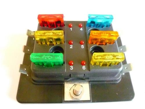 small resolution of fuse boxes with individual l e d blown fuse indicator br available in 4 6